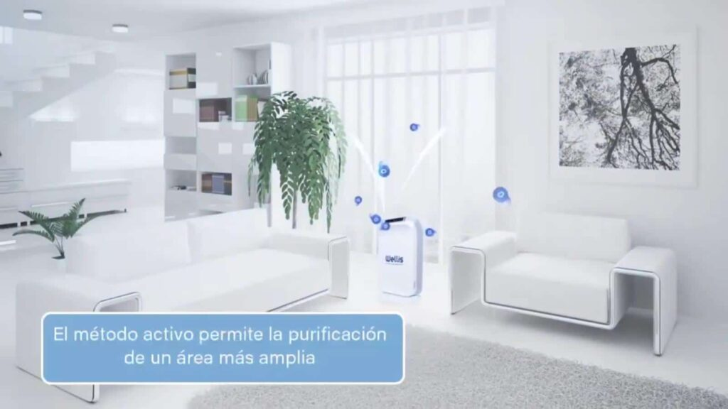 Wellisair Aire Purificado purifica superficies