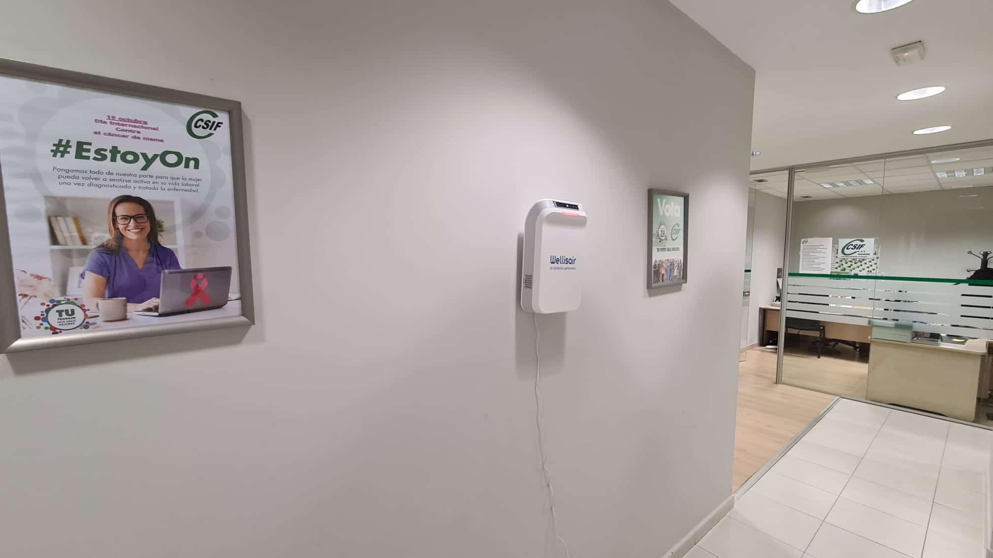 CSIF instala Wellisair gracias a airepurificado.es